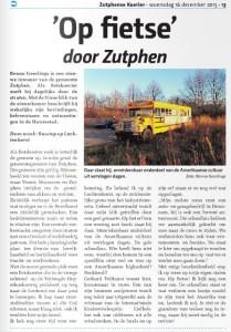Gele bus in de krant